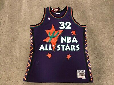 06d73658316a NEW NWT Mitchell   Ness Shaquille ONeal Shaq 1995 ALL Star Swingman Jersey  XL