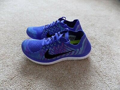 3a32d8db3f68 New Womens 7 Nike Free 4.0 Flyknit Running Shoes Purple Green Pink Black  717076