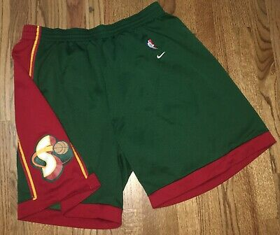 82c4193f0b05 Vintage Seattle Supersonics Sonics Nike NBA Basketball Stitched XXL 2XL  Shorts