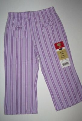 Purple woven pants 24 month Girl Toddler NWT front pockets with bows CUTE