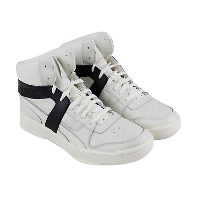 Reebok Bb 5600 Premium Mens White Leather Athletic Lace Up Basketball Shoes