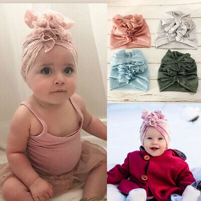 Cute Newborn Toddler Kids Baby Boy Girl Indian Turban Knot Cotton Beanie Hat Cap