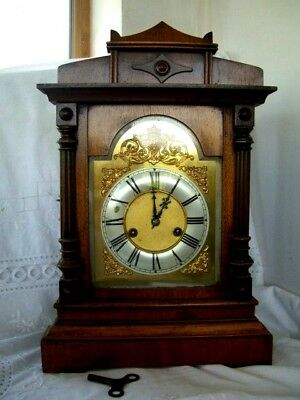 Antique German HAC Wurttrmberg Crossed Arrows-14 Days Strike  -  Mantel Clock