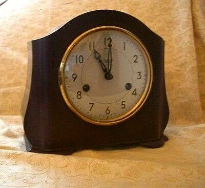 Bakelite Smiths Enfield 8 Day Striking Mantel Clock G.W.O