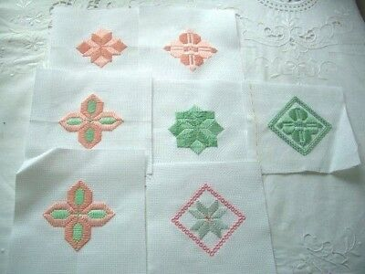 Needlepoint - 7 x Finished squares, ideal for card making         ref 5E