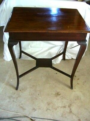Hall table - Victorian antique Arts & Crafts solid mahogany- console occasional