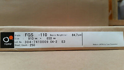 Yupo FGS 110 - 85 GSM (110 micron) Synthetic Paper 40 sheets 220mmx320mm