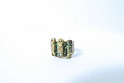 Alter Ring Yoruba mit Figuren AI19 Old Ring Joruba with Figures Bague Afrozip