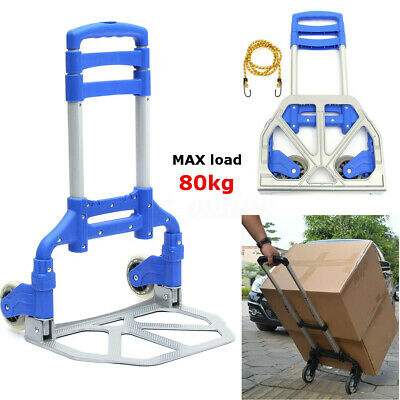 80KG Heavy Duty Folding Hand Sack Wheel Trolley Truck Cart  Aluminum Alloy UK