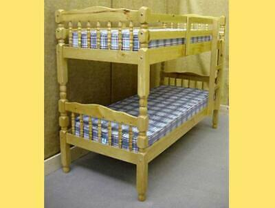 Solid Antique Pine 3Ft Bunk Bed Bed Frames Mattresses Extra