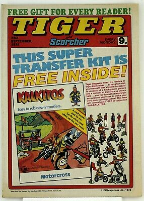Tiger & Scorcher Comic 23rd September 1978 Free Postage