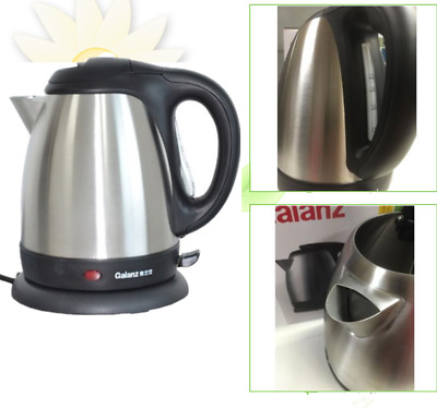Premium Stainless Steel1.7L Cordless Electric Kettle Indicator Light 360° Silver