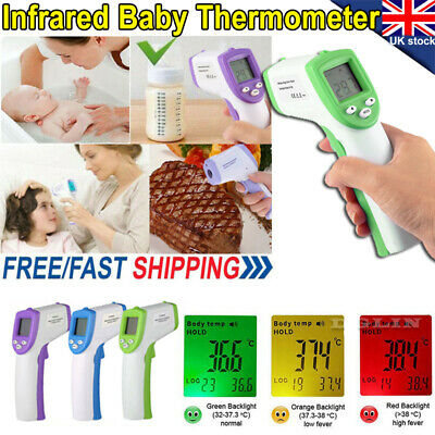 Non-Contact Baby Thermometer Digital Forehead Infrared Medical Adult Body Care .