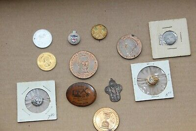 Junk Drawer Lot Tokens, Coins, Pinback Buttons