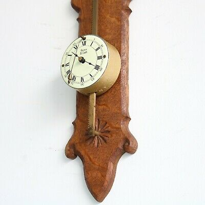 WUBA Antique GRAVITY Wall TOP!! Condition Clock RARITY Germany SERVICED Pendulum