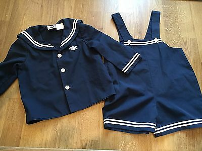 Little Boys Good Lad Nautical Jumper With Coat 24 Month