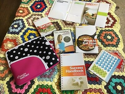 Weight Watchers Black And White Polkadot Holder And Books