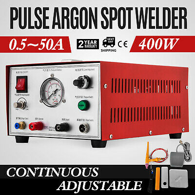 Argon Pulse Sparkle Spot Welder 400W Jewelry Welding Machine Silver Platinum