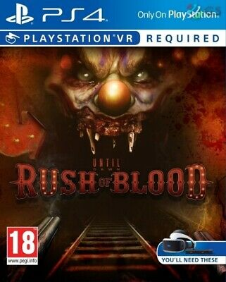 Until Dawn Rush Of Blood VR PSVR PS4 * NEW SEALED PAL *