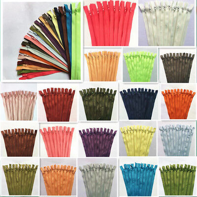 50~100pcs 35cm (14inch) Nylon Coil Zipper Customized Rare Color Craftsman
