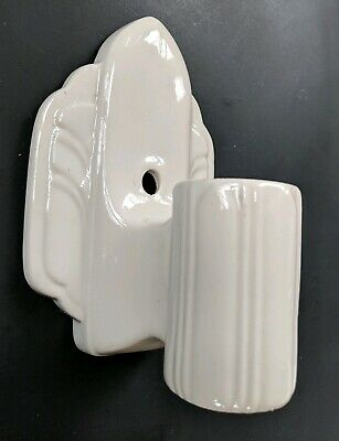 Vintage Antique Porcelain Sconce Wall Fixture Light Bathroom Art Deco Style