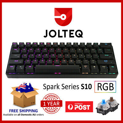 Compact Mechanical Gaming Keyboard 60% TKL with RGB Switches - Jolteq S10