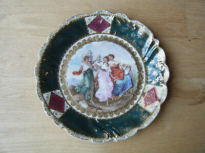 Antique Vtg Royal Vienna Style Hand Painted Cabinet Plate after A. Kaufmann