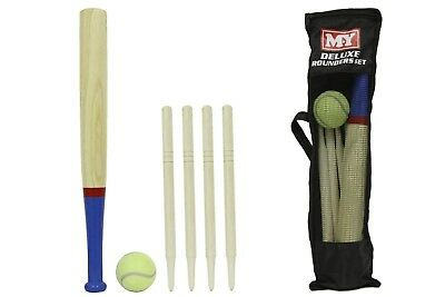 M.Y Deluxe 6pc Wooden Rounders Set With Carry Bag Brand New Summer Garden Game