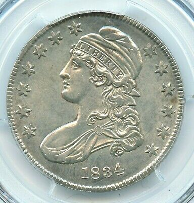 1834 Small Date Small Letters, Capped Bust Half Dollar, PCGS AU58