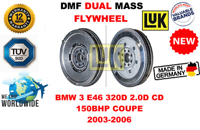 DMF Flywheel Bolts fits BMW 330 E46 3.0D 02 to 07 Dual Mass LuK Quality New