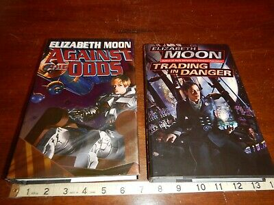 ELIZABETH MOON BOOK Lot of 2 Against the Odds 1st Print Trading in Danger  1st Ed