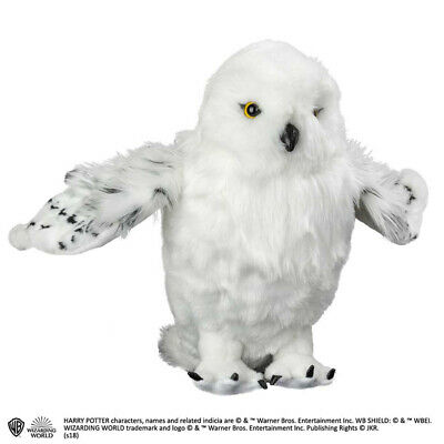 Harry Potter Hedwig Edvige Poseable Wings Plush Peluche NOBLE COLLECTIONS