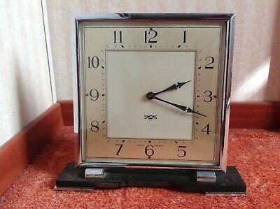 Vintage Art Deco style 8 Day Smiths clock.