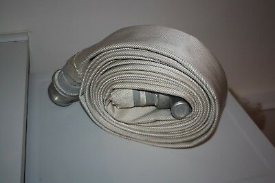 NEW Fire Hose Short Length, White, 8m x 70mm with fire brigade couplings