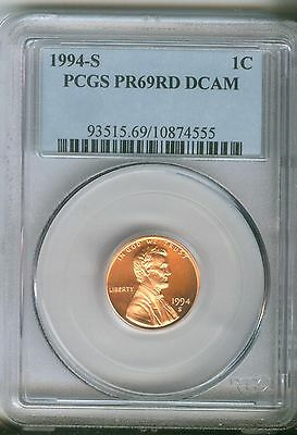 1994-S 1C DC (Proof) Lincoln Cent   PCGS PR69RD DCAM   93515.69/10874555