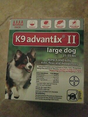 Bayer K9 Advantix II for  Large Dogs 21-55 lbs - 4 Pack,  FREE Shipping!