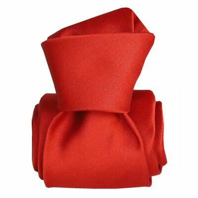 Cravate luxe soie satin faite main - Rouge -