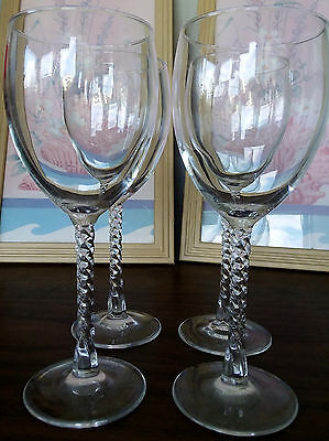 Set Of 4 Crystal Wine/Water Goblets