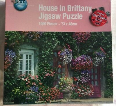 Brand New / Sealed House In Brittany 1000 Piece Jigsaw Puzzle ~73x 48 Cm