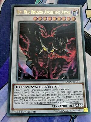 YuGiOh Hot Red Dragon Archfiend Abyss DUPO-EN057 Ultra Rare 1st Edition