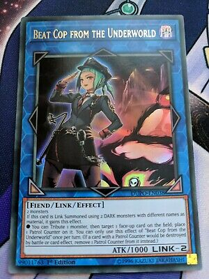 1st edition Beat Cop from the Underworld Ultra Rare Yu-Gi-Oh DUPO-EN038