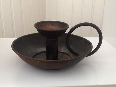 Reproduction Rusty Black Candle Stick Holder