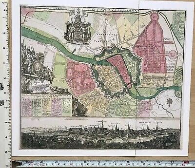 Antique vintage historical map 1700s: Berlin, Germany 12 X 10 Reprint 1730c