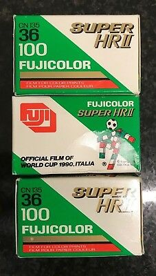 3 x Fujifilm Super HRII 100 expired film job lot Lomo Agfa Konica Kodak