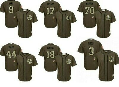 e0f5b15b116 NEW CHICAGO Cubs Men s Salute to Service Military Camo Jerseys ...