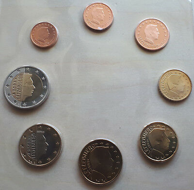 Serie 2003 - LUXEMBOURG 2003 from BU folder 1 Cent to 2 Euro -under Plastic