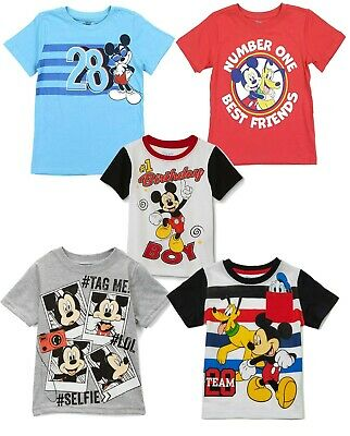 cbbb73ec8 t Shirt Disney Mickey Mouse Face Toddler Boys Tee Graphic Character 2t 3T  4t 5t