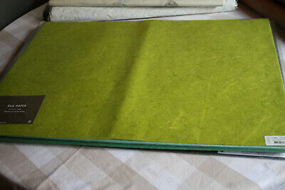 25 x VIVANT MULBERRY SILK PAPER SHEETS 70CMS X 50CMS-COLOUR 62 SPRING GREEN-NEW