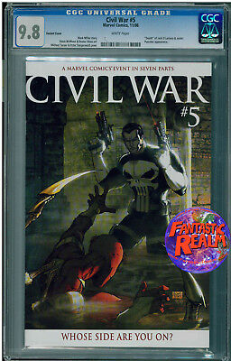 Civil War #5  Cgc 9.8 Carnage Turner Variant Punisher Cover Marvel Comics