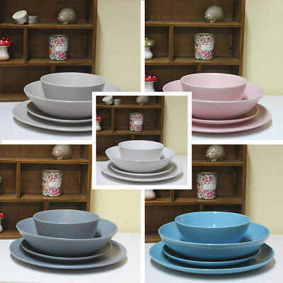 Set of 4 Ceramic Dinnerware Serving Plate Bowl Kitchen Dining Tableware NEW